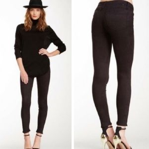 """Mother """"the looker"""" skinny black jeans"""